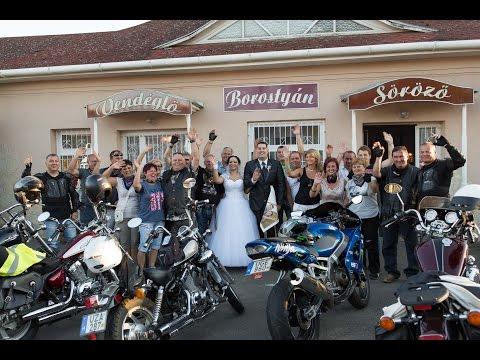Motoros esküvő Kótajban  (Kitti és Zsolt)
