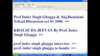 Prof. inder singh ghagga
