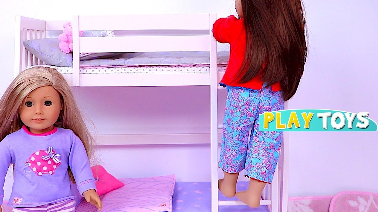 Play Baby Doll House Toys With Bunk Beds And Closet Dress Up