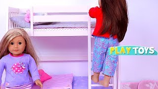 Video Play Baby Dollhouse Toys with Bunk Beds and Closet Dress up for American Girl Dolls! 🎀 download MP3, 3GP, MP4, WEBM, AVI, FLV Agustus 2018
