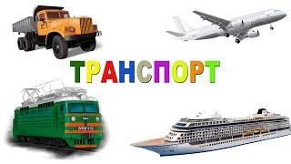 Транспорт для детей Развивающие мультики для самых маленьких Видео для мальчиков Виды транспорта