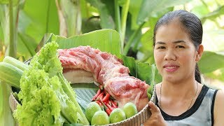 Amazing Cooking Pork With KohKong Fish Sauce Delicious -  Cook Pork Recipes  -  Village Food Factory