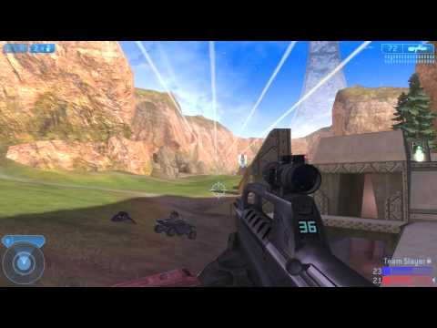 Halo 2 PC Vista Multiplayer Sniper Gameplay Team Slayer on Coagulation HD[1080p]