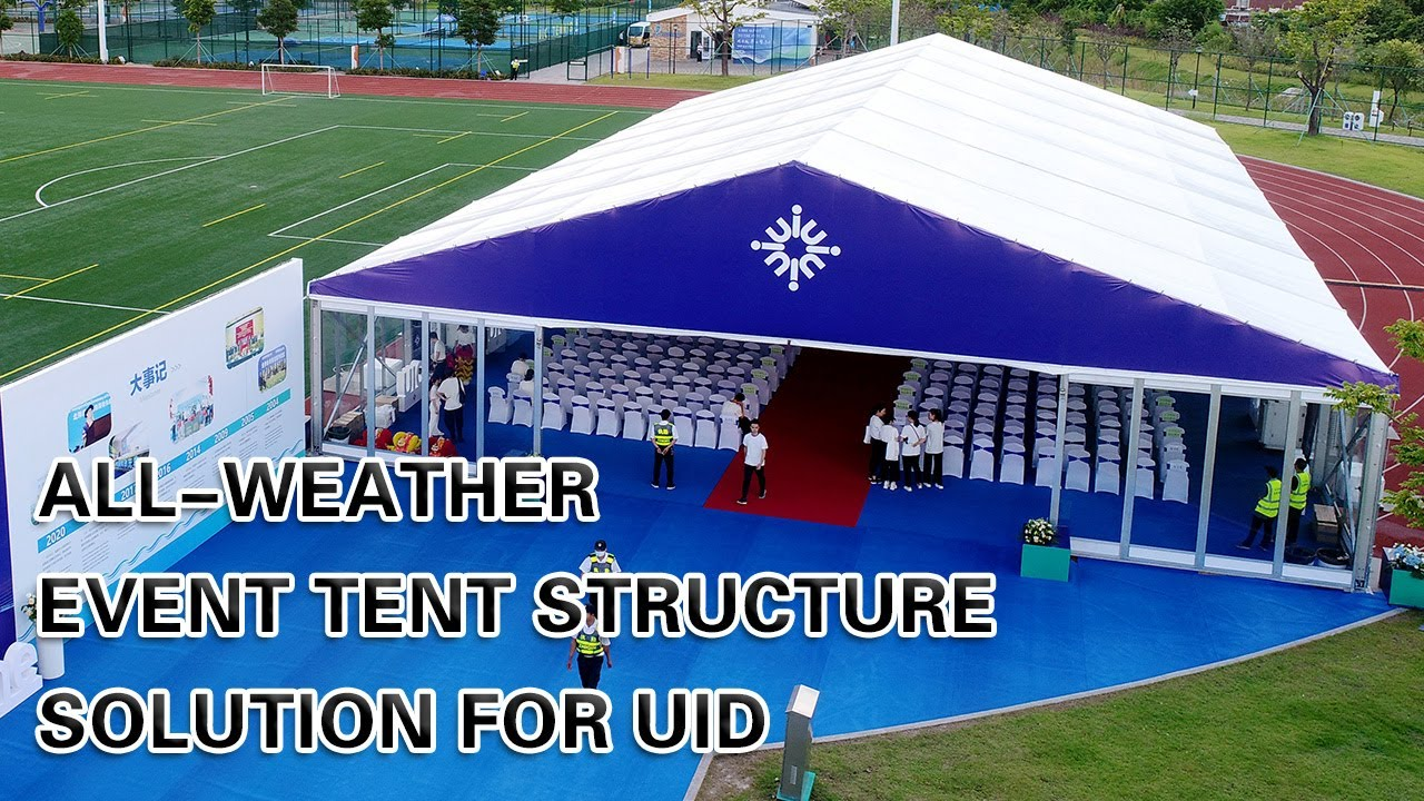 All-Weather Event Tent Structure for the UID Second-Phase Groundbreaking Ceremony From Liri Tent