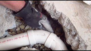 Gravel Around Plumbing Drain Pipe