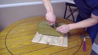 Unboxing A Soviet Russian Ammo Crate And Cans - 7.62x54 Mosin Nagant