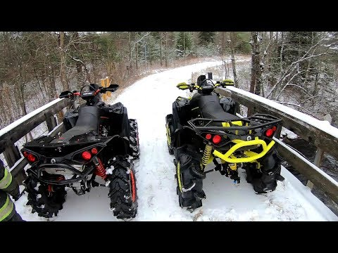 First Winter Rip On The Twins (Can AM Renegade Xmr1000r)