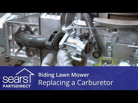 Replacing a Carburetor on a Riding Lawn Mower - YouTube