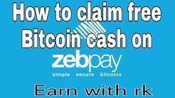 How to claim free bitcoin cash on Zebpay