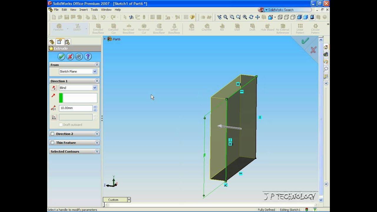 solidworks 2007 tutorial videos 02 extrude avi youtube rh youtube com SolidWorks Simulation SolidWorks Projects