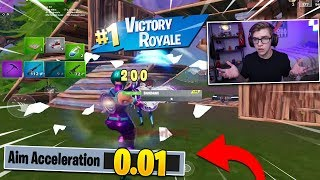 i played Fortnite Mobile without AIM ACCELERATION...