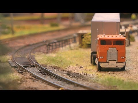 Southern Pacific Lines Model Railroad Display in HO Scale