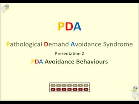 PDA Avoidance Behaviours