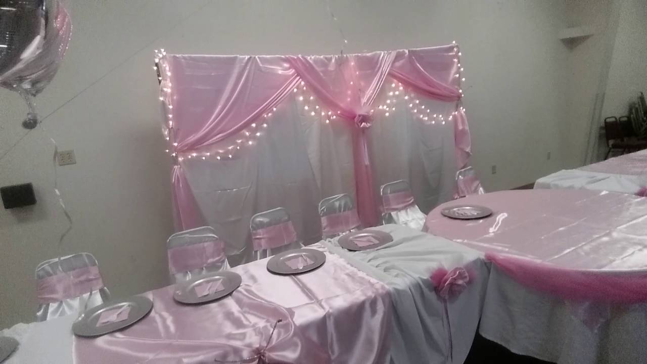 Decoraciones de salon para 15 a os youtube for Arreglos de salon para quince anos