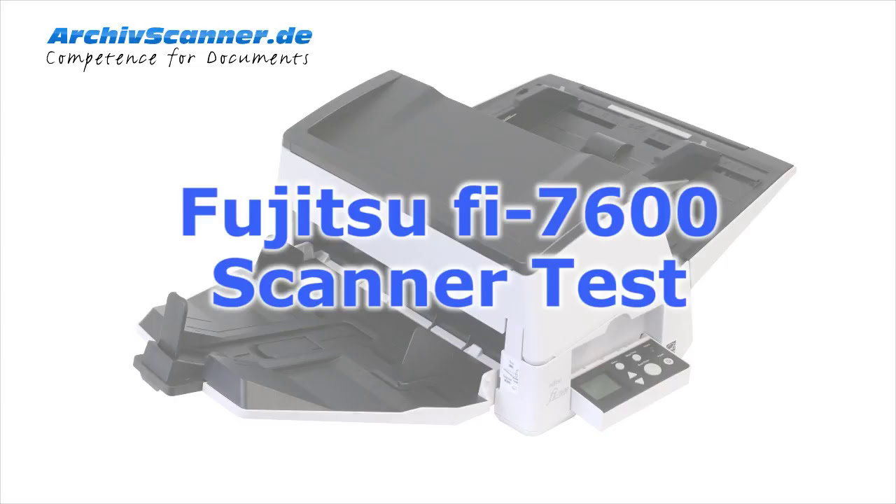 Fujitsu Fi 7600 Scanner Test Youtube Series 7700s