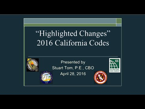"""""""Highlighted Changes"""" to the 2016 California Codes"""