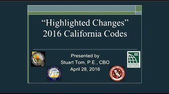 """Highlighted Changes"" to the 2016 California Codes"