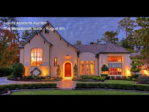 The Woodlands Houston Texas Luxury Home For Sale By Auction Youtube