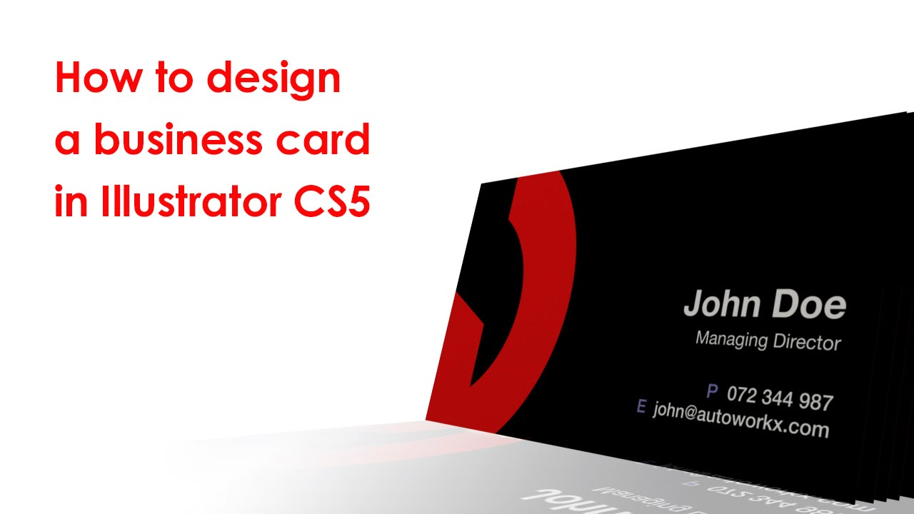 How to design a business card in illustrator youtube reheart Gallery