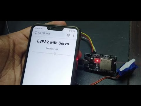 ESP32 Web Server Control Servo motor from web page with Arduino IDE