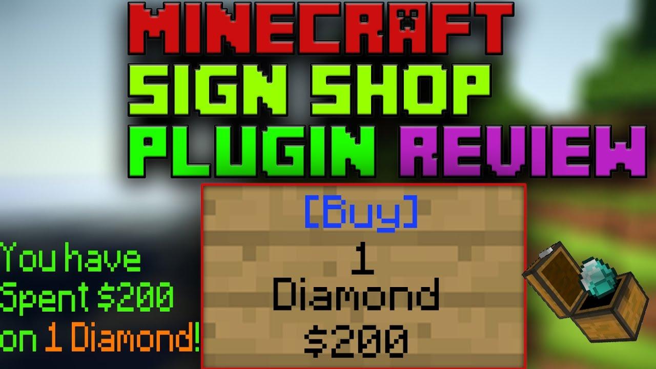 BEST MINECRAFT SHOP PLUGIN EVER | SignShop Plugin Review