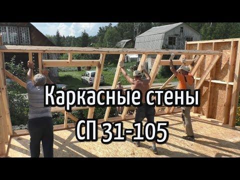Каркасные стены. СП 31-105