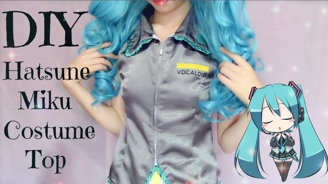 Favori DIY How to Make Hatsune Miku Costume (Top) - YouTube XP36