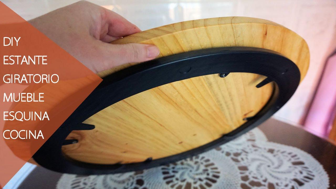 Diy organizador giratorio mueble esquinero de cocina youtube for Mueble organizador