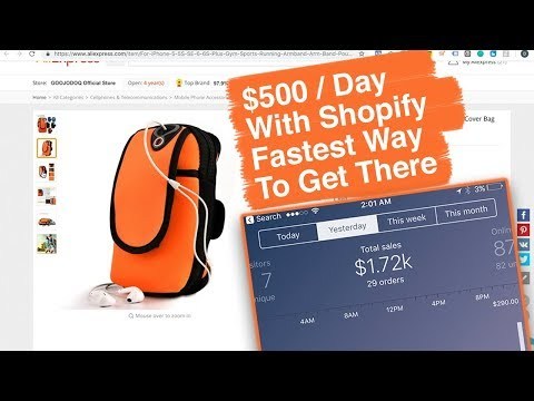 How To Make 500 / Day With Shopify - Fastest Way To Get There