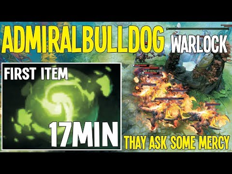 AdmiralBulldog Warlock 17Min Refresher First Item WTF 7.20  | Dota 2 Pro Gameplay