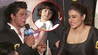 SHOCKING: Shahrukh Khan Says Abram Khan HATES Kajol SRK Together