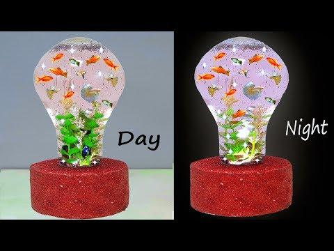 ফিউজ বাল্ব দিয়ে অ্যাকোয়ারিয়াম || How to Make Aquarium in light bulb simple method DIY