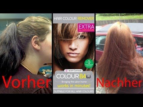 Dunkel GEFÄRBTE Haare aufhellen? Haarfarbenentferner