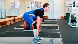 Становая тяга на прямых ногах: техника выполнения