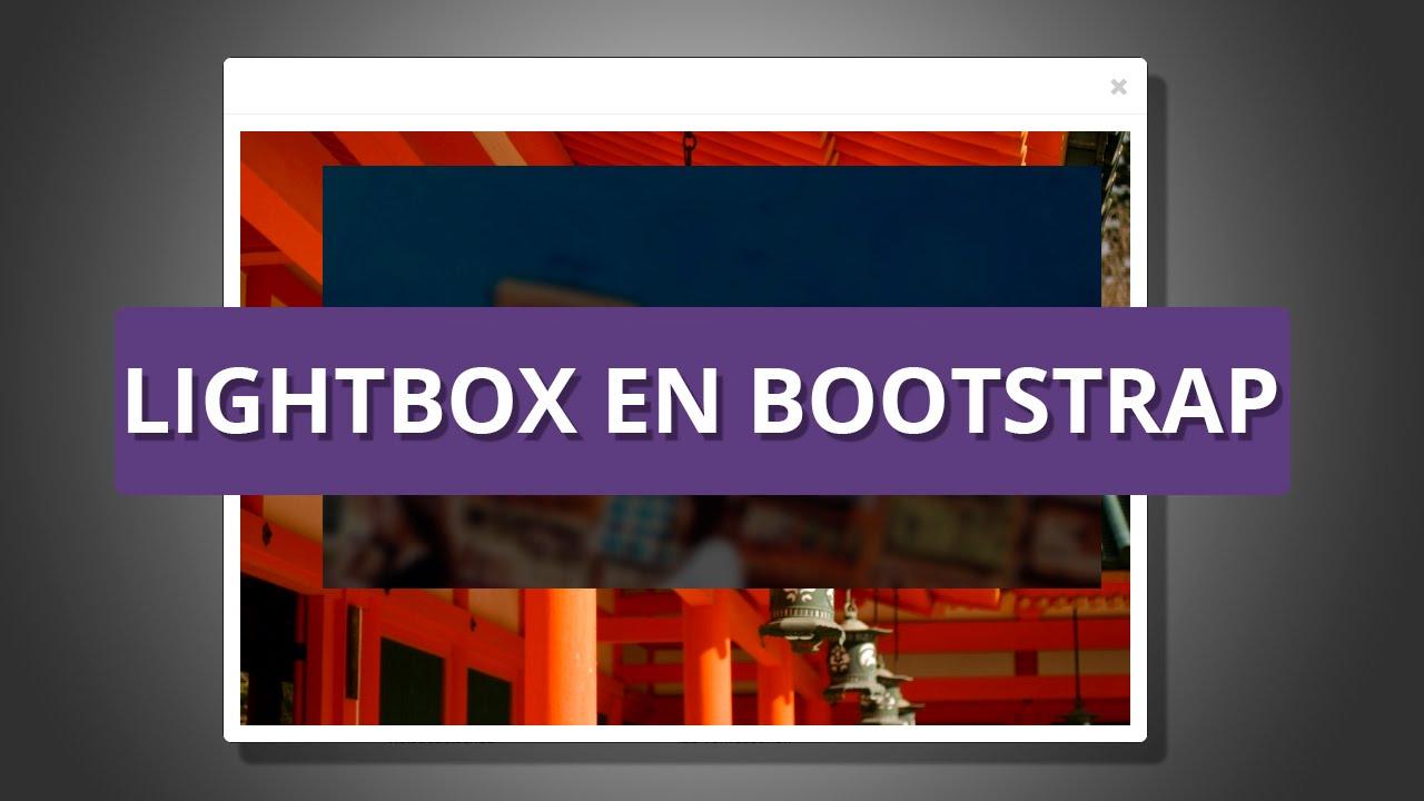 Lightbox en Bootstrap