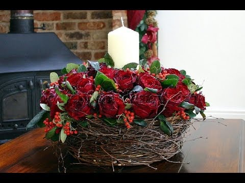christmas flower arrangements london
