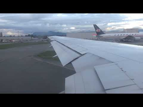 Air Canada Rouge 767 takeoff from Vancouver International Airport