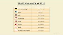 Mariä Himmelfahrt 2020 - Datum - Feiertage Deutschland 2020