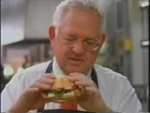Wendy's Commercial featuring the late Dave Thomas