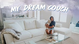 I GOT MY DREAM WHITE SECTIONAL COUCH (What I really think about Wayfair...)