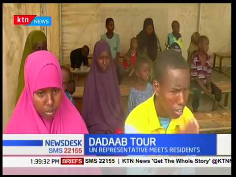 UN Representative meets residents of the world's largest camp for Somali refugees,Dadaab