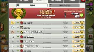 Clash of clans...Our clans in top 200 in U.S.A