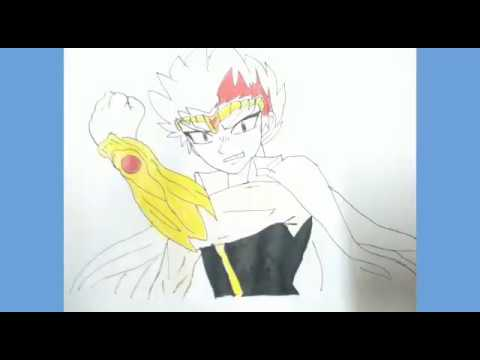 How to draw drawing of anime Ryuga from beyblade metal ...