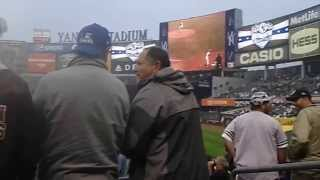 Old Timers day in Yankee Stadium
