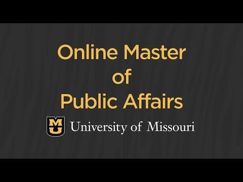 Public Affairs: Online Master's Degree