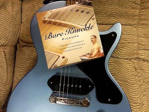 Gibson P90 VS Bare Knuckle Supermassive p90 - Les Paul Jr