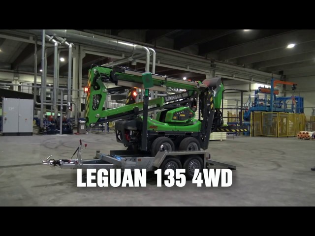 Leguan Lifts in action: L135 4WD spider lift at Finnfoam factory in Salo (2015)