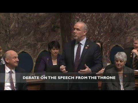 John Horgan's Throne Speech Response | FULL