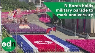 North Korea holds huge military parade to mark its 70th anniversary