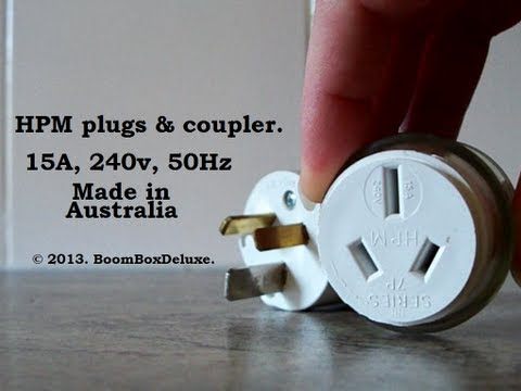 Plugs : G'day, peoples! AU / NZ 15A plugs & coupler :-)